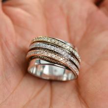 1.01 Carats t.w. Diamond Ring 14K Rose/White/Yellow Gold