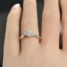 0.46 Carat t.w. Diamond Solitaire Engagement Ring 14K White Gold