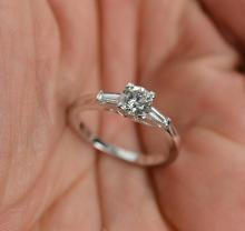 0.74 Carat t.w. Diamond Wedding/Anniversary Ring 14K Gold