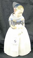 Royal Copenhagen Denmark Figurine of Young Girl Amager  Lotte Benter #1251 UF