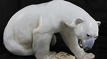 Rare! Bing & Grondahl Copenhagen Polar Bear Figurine #1857 R