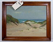 Christian Thornild Denmark (1884-1951)  Oil on Board Seascape