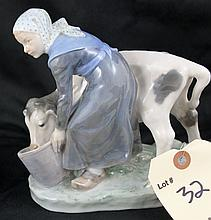 Royal Copenhagen Denmark Figurine of Maiden With Cow #779 DRX