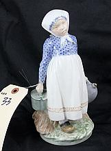 Royal Copenhagen Denmark Figurine of Young Girl with Lunch #815 RPX