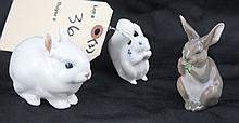 Lot of 3 - Bunny & Squirrel Figurines Royal Copenhagen