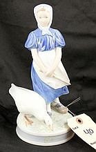 Royal Copenhagen Denmark Figurine of Girl Tending a Goose #527 ST