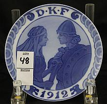 Royal Copenhagen Year Plate 1912