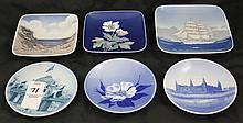 Royal Copenhagen Lot of 6 Trays