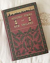 Historic Towns Of New England Book Lyman Powell Knickerbocker 1898