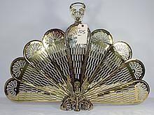 Neoclassic Brass Fireplace Fan Screen