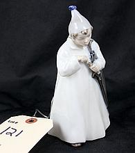 Royal Copenhagen Denmark Figurine of SANDMAN Boy With Umbrella #1145