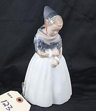Royal Copenhagen Denmark Figurine Little Girl Pulling on Sweater #1251