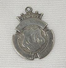 Antique Sterling Runners English Medal