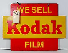Great Old Kodak Camera Advertising Store Sign Double Sided