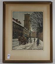 Denmark Antique Litho Hans Crause