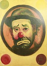 Emmet Kelly Clown Oil On Canvas After Red Skelton