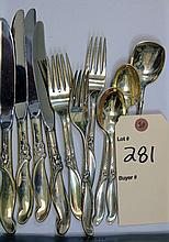 13 Piece Set International Sterling Flatware - Silver Melody