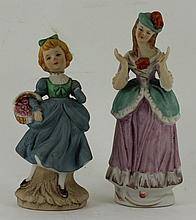 2 young girl figurines AF