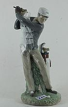 Lladro figurine of Male Golfer. Model Nu