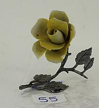 Capodimonte Yellow Rose ornament