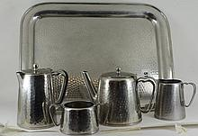 'Old Hall' stainless steel tea service s