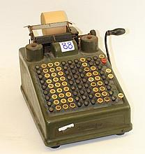 A vintage Burroghs adding machine