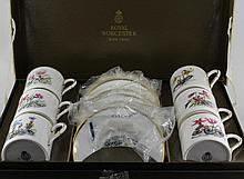 A boxed Royal Worcester coffee service p