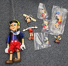 Quantity of Pinocchio collectors items