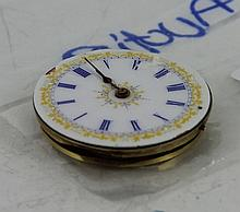 Pocket watch movement with gold embellis