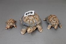 3 Wade Turtles and 1 Hamilton Collection