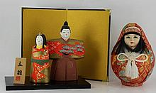 Japanese round doll with fabric covering