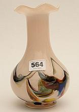 A multicoloured art glass vase 8