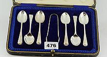 Boxed set of 6 Hallmarked Silver spoons