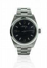 Rolex Stainless Steel Oyster Perpetual Lady's Wrist Watch