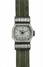 Tiffany, Art Deco, Platinum and Diamond Lady's Wrist Watch