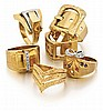 18kt Yellow Gold Ring Grouping, 6pc