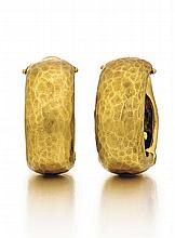 Tiffany & Co., Paloma Picasso, 18kt Yellow Gold Earrings, Pair
