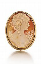 14kt Yellow Gold Cameo Pin/Pedant