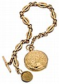 Hy Moser 14kt Yellow Gold Hunter Case Pocket Watch and Fob Chain