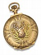 Elgin 14kt Yellow, Rose and Green Gold Hunter Case Pocket Watch