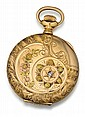 14kt Rose, Green and Yellow Gold Elgin National Hunter Case Pocket Watch