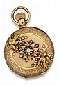 Elgin, 14kt Yellow, Rose and Green Gold Hunter Case Pocket Watch