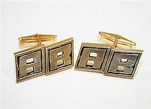 14kt Yellow Gold Gent's Cufflinks, Pair