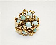 14kt Yellow Gold and Opal Lady's Ring