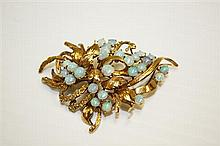 14kt Yellow Gold and Opal Lady's Brooch