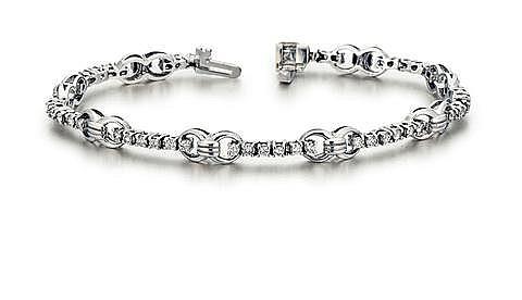 14kt White Gold and Diamond Lady's Bracelet