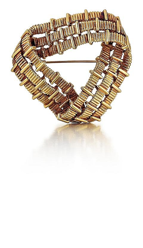 Tiffany & Co., 18kt Yellow Gold Knot Brooch