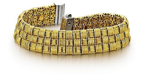 Roberto Coin, 18kt Yellow Gold, Diamond Lady's Bracelet