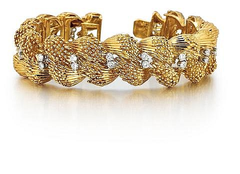 18kt Yellow Gold and Diamond Lady's Bracelet