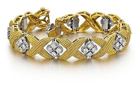 18kt Yellow and White Gold and Diamond Lady's Bracelet